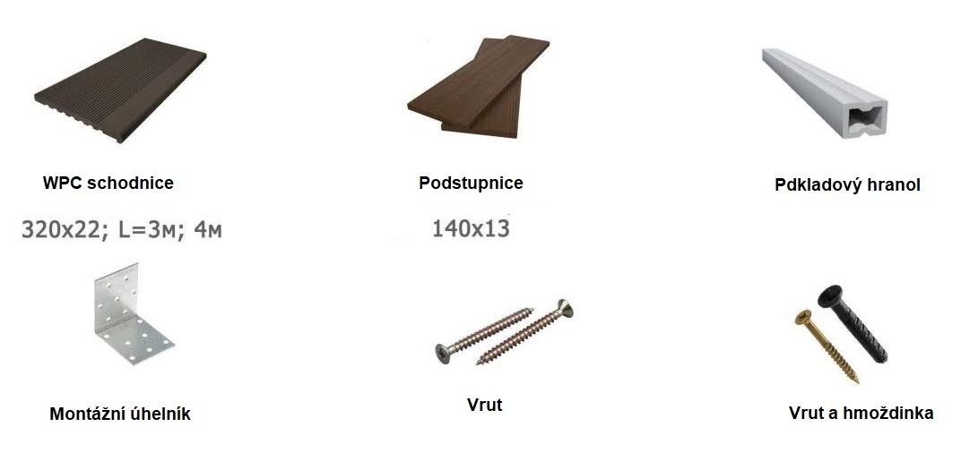 schody drevoplast WPC montaz prehled
